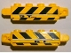 Part No: 30387pb006  Name: Hinge Brick 1 x 4 Locking with Black and Yellow Danger Stripes and '5T' Pattern on Both Sides (Stickers) - Set 8899