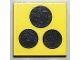 Part No: 3068bp65  Name: Tile 2 x 2 with Black Stove Top 3 Burner Pattern (Sticker)