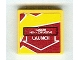 Part No: 3068bpb0368  Name: Tile 2 x 2 with Groove with 'DANGER HIGH-EXPLOSIVE' and 'LAUNCH' on Dark Red and Yellow Background Pattern (Sticker) - Set 8113
