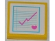Part No: 3068bpb0754  Name: Tile 2 x 2 with Pink Heart and Medical Chart Pattern (Sticker) - Set 3188