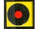 Part No: 3068bpb0866  Name: Tile 2 x 2 with Groove with Black Circle with Red Center (Vinyl Record) Pattern (Sticker) - Set 268