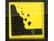 Part No: 3068bpb0867  Name: Tile 2 x 2 with Black Falling Rocks Pattern (Sticker) - Set 8364
