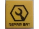 Part No: 3068bpb1113  Name: Tile 2 x 2 with Wrench in Hexagon and 'REPAIR BAY' Pattern (Sticker) - Set 7709