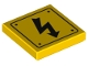 Part No: 3068bpb1152  Name: Tile 2 x 2 with Groove with Electricity Danger Sign and Rivets Pattern