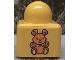 Part No: 31000pb05  Name: Primo Brick 1 x 1 with Medium Orange Teddy Bear Pattern on Two Sides