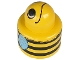 Part No: 31005pb01  Name: Primo Brick, Round Rattle 1 x 1 with Bumblebee Pattern