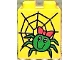 Part No: 31110pb002  Name: Duplo, Brick 2 x 2 x 2 with Spider and Web Pattern