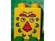 Part No: 31110pb007  Name: Duplo, Brick 2 x 2 x 2 with Bird Face Pattern