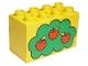 Part No: 31111pb002  Name: Duplo, Brick 2 x 4 x 2 with Apple Tree Pattern