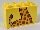 Part No: 31111pb045  Name: Duplo, Brick 2 x 4 x 2 with Giraffe Body and Tail Pattern
