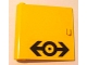 Part No: 3195pb02  Name: Door 1 x 5 x 4 Left with Train Logo Black Pattern (Sticker) - Set 4564