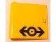Part No: 3195pb02  Name: Door 1 x 5 x 4 Left with Train Logo Black Pattern (Sticker) - Set 4564