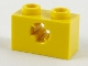 Part No: 32064b  Name: Technic, Brick 1 x 2 with Axle Hole - New Style with X Opening