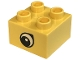 Part No: 3437pb012  Name: Duplo, Brick 2 x 2 with Eye, Giraffe's Pattern, on Two Sides