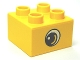 Part No: 3437pb049  Name: Duplo, Brick 2 x 2 with Eye, Small with White Spot and Curve Pattern on Two Sides