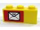 Part No: 3622pb024L  Name: Brick 1 x 3 with Mail Envelope Pattern Left (Sticker) - Set 7732