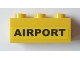 Part No: 3622pb038  Name: Brick 1 x 3 with 'AIRPORT' Pattern (Sticker) - Set 3182