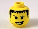 Part No: 3626bpa5  Name: Minifigure, Head Moustache Scruffy Raised Eyebrows, Smirk Pattern - Blocked Open Stud