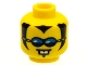 Part No: 3626bpb0031  Name: Minifigure, Head Glasses with Blue Glasses, 2 White Teeth and Sideburns Pattern - Blocked Open Stud