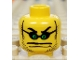 Part No: 3626bpb0048  Name: Minifigure, Head Glasses Small with Green Eyes, Stubble, Thin Wide Moustache over Mouth Line Pattern - Blocked Open Stud