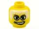 Lot ID: 102503631  Part No: 3626bpb0055  Name: Minifigure, Head Male White Eyes, White Hair, White Teeth, Grin, Gap Tooth Pattern - Blocked Open Stud