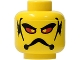 Part No: 3626bpb0108  Name: Minifigure, Head Alien with Red Eyes, Frown and Gills Pattern - Blocked Open Stud