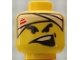 Part No: 3626bpb0123  Name: Minifigure, Head Male White Bandage with Blood, Side Open Mouth Pattern - Blocked Open Stud