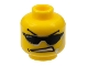 Part No: 3626bpb0231  Name: Minifigure, Head Glasses with Sunglasses, Arched Eyebrows, Open Mouth, and Headset Pattern - Blocked Open Stud