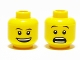 Part No: 3626bpb0333  Name: Minifigure, Head Dual Sided Thin Eyebrows, Open Smile / Surprised Pattern - Blocked Open Stud