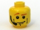 Part No: 3626bpb0360  Name: Minifigure, Head Male Brown Eyebrows, White Pupils, Vertical Cheek Lines, Headset Pattern - Blocked Open Stud