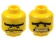 Part No: 3626bpb0446  Name: Minifigure, Head Dual Sided Stubble and Unibrow, Determined / Scared Pattern - Blocked Open Stud