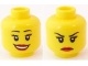 Part No: 3626bpb0594  Name: Minifigure, Head Dual Sided Female Eyelashes and Red Lips, Smile / Annoyed Pattern - Blocked Open Stud