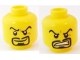 Part No: 3626bpb0596  Name: Minifigure, Head Dual Sided Arched Eyebrows and Goatee, Smile / Angry Pattern - Blocked Open Stud