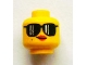 Part No: 3626bpb0918  Name: Minifig, Head Female with Black Sunglasses, Red Lips and Smirk Pattern - Blocked Open Stud
