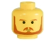 Part No: 3626bps9  Name: Minifigure, Head Beard with Brown Eyebrows, Moustache and Beard, Black Chin Dimple Pattern - Blocked Open Stud