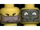 Part No: 3626bpx105  Name: Minifigure, Head Dual Sided Alien SW Female Veil / Gray Face Pattern - Blocked Open Stud