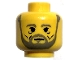 Part No: 3626bpx106  Name: Minifigure, Head Beard with Gray Beard and Under-Eyes Wrinkles Pattern - Blocked Open Stud
