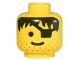 Part No: 3626bpx119  Name: Minifigure, Head Male Eyepatch, Stubble, Black Hair Pattern - Blocked Open Stud