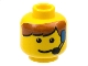 Part No: 3626bpx25  Name: Minifigure, Head Male Brown Bangs and Headset Pattern - Blocked Open Stud