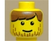 Part No: 3626bpx26  Name: Minifigure, Head Male Brown Bangs and Line Stubble Pattern - Blocked Open Stud