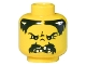 Part No: 3626bpx30  Name: Minifigure, Head Moustache Black Angry and Missing Teeth Pattern - Blocked Open Stud