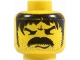 Part No: 3626bpx78  Name: Minifigure, Head Moustache Thick Angry and Long Hair and Stubble Pattern - Blocked Open Stud