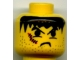 Part No: 3626bpx93  Name: Minifigure, Head Male Snarl, Stubble, and Scar Right Pattern - Blocked Open Stud