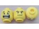 Part No: 3626cpb0272  Name: Minifigure, Head Dual Sided Black Eyebrows, White Pupils, Mouth Open Scared / Mischievous Smile Pattern - Hollow Stud