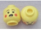 Part No: 3626cpb0394  Name: Minifigure, Head Rosy Cheeks, Open Mouth, Brown Eyebrows Pattern (Caroler) - Hollow Stud