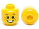 Part No: 3626cpb0471  Name: Minifig, Head Brown Eyebrows and Freckles, Open Smile, White Pupils Pattern - Stud Recessed