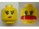 Part No: 3626cpb0592  Name: Minifigure, Head Dual Sided Female Red Lips / Red Veil over Mouth Pattern - Hollow Stud