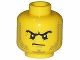 Part No: 3626cpb0894  Name: Minifigure, Head Beard Stubble, Black Angry Eyebrows and Scowl, White Pupils Pattern - Hollow Stud