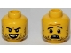 Part No: 3626cpb0996  Name: Minifig, Head Dual Sided Beard Stubble, Missing Tooth, Open Grin / Frown Pattern - Stud Recessed