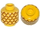 Part No: 3626cpb1018  Name: Minifig, Head with Pineapple Pattern - Stud Recessed